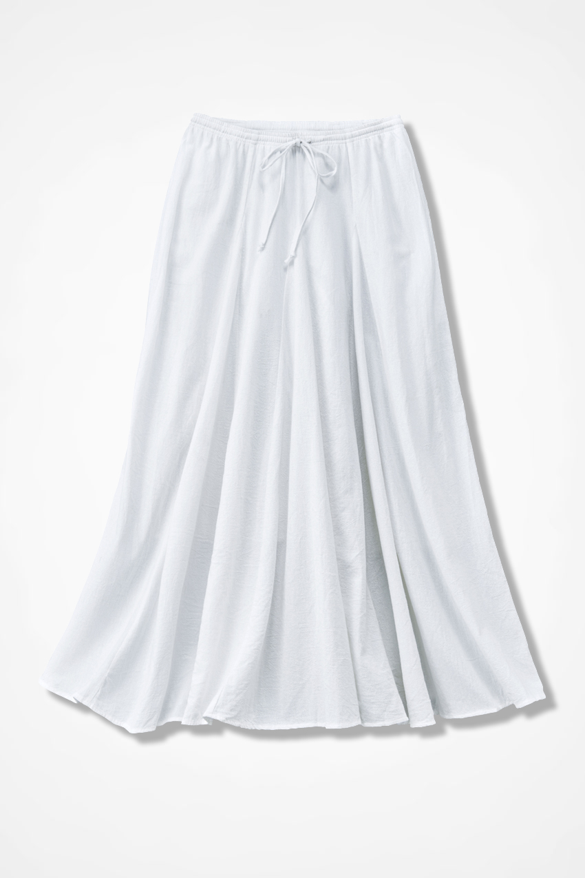 Crinkle Cotton Solid Maxi Skirt - Coldwater Creek