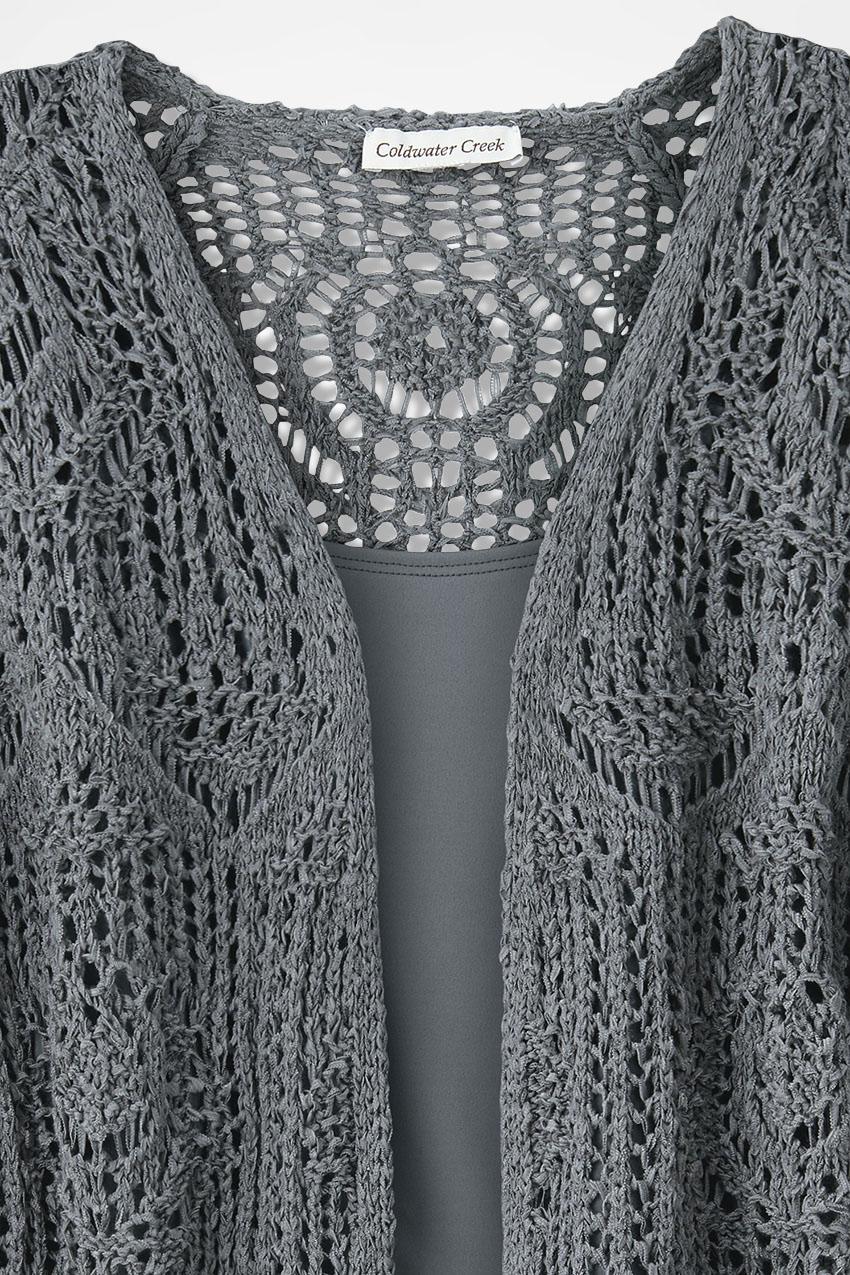 Open Crochet Cardigan - Women\'s Sweaters   Coldwater Creek