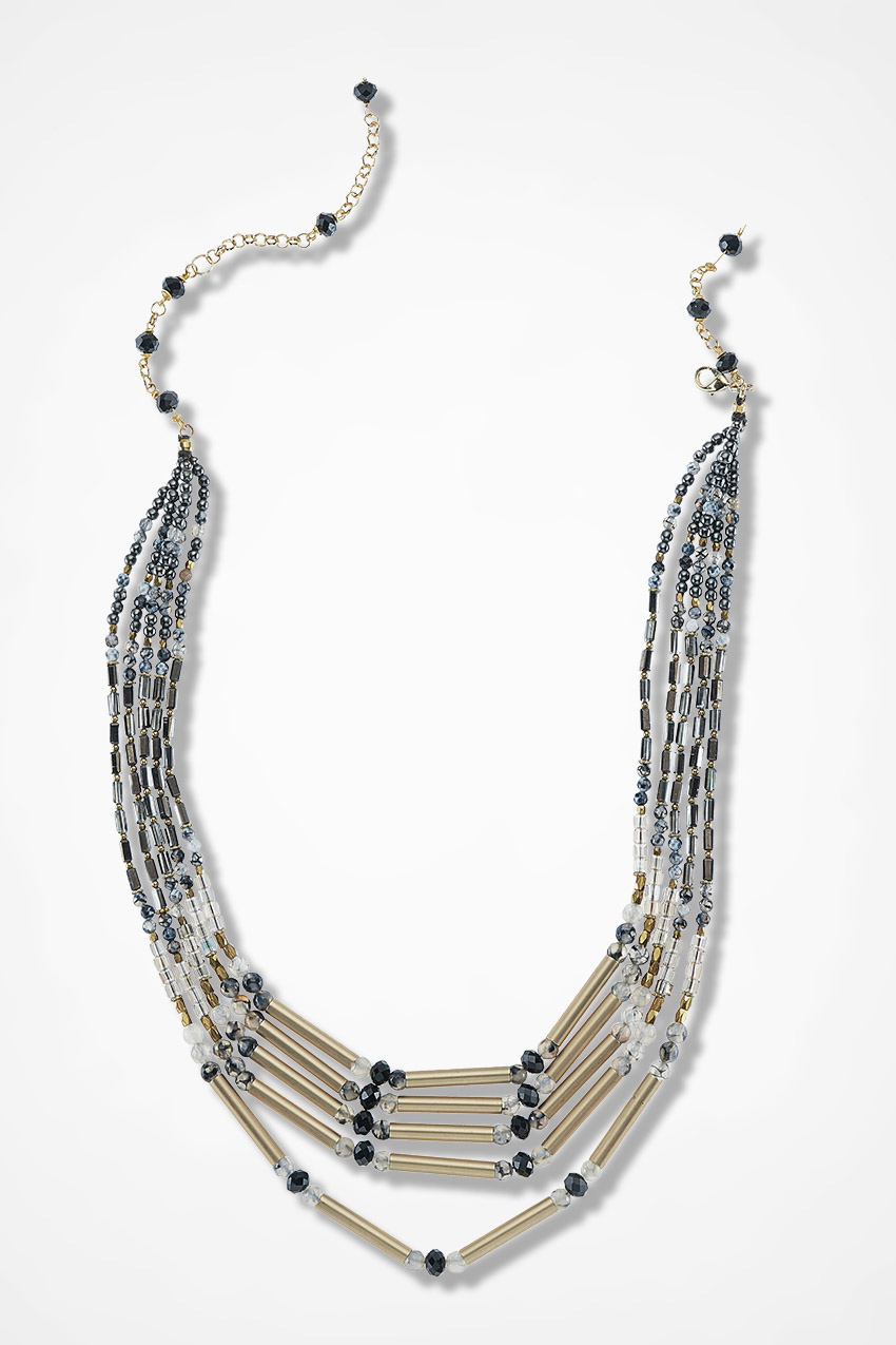 Terra Nova Necklace Black Multi Large