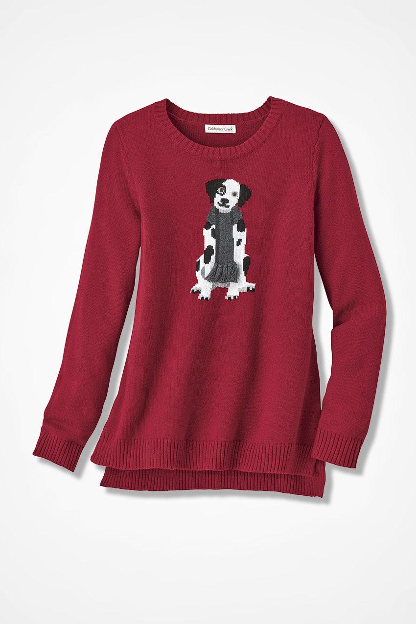 Darling Dalmatian Sweater Coldwater Creek