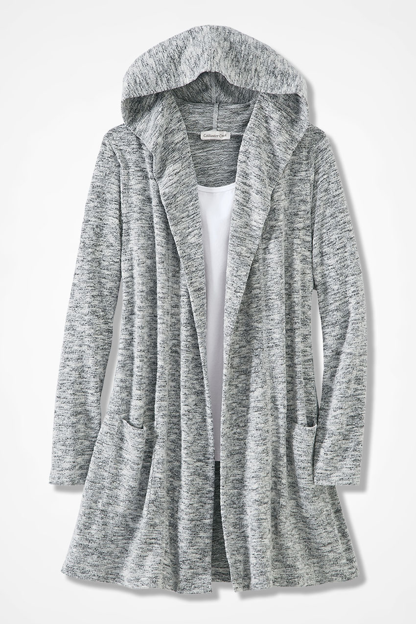 Dream-Soft Plush Hooded Duster - Coldwater Creek