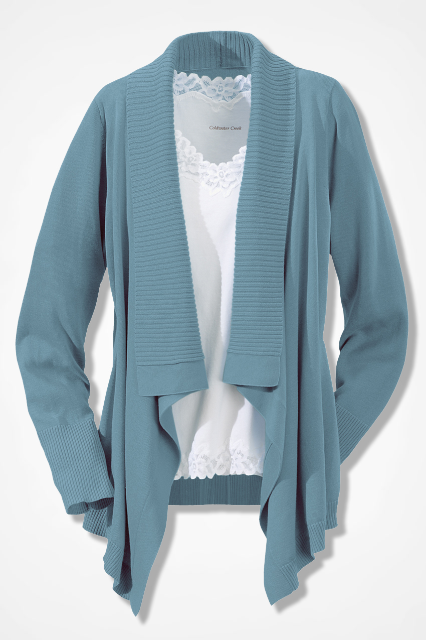 Pointed Hem Cardigan - Sweaters | Coldwater Creek