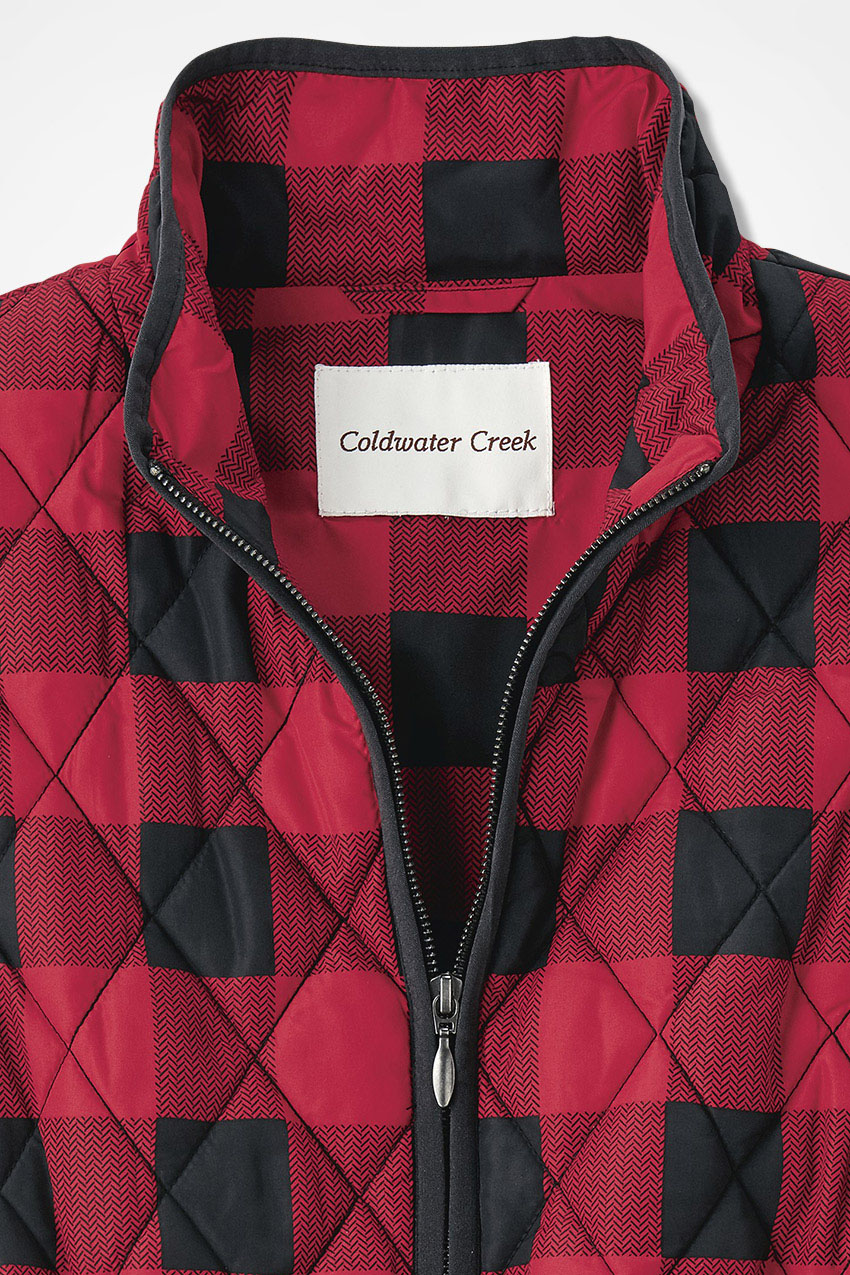 49afae8e9b0 Buffalo Plaid Vest for All Seasons - Coldwater Creek