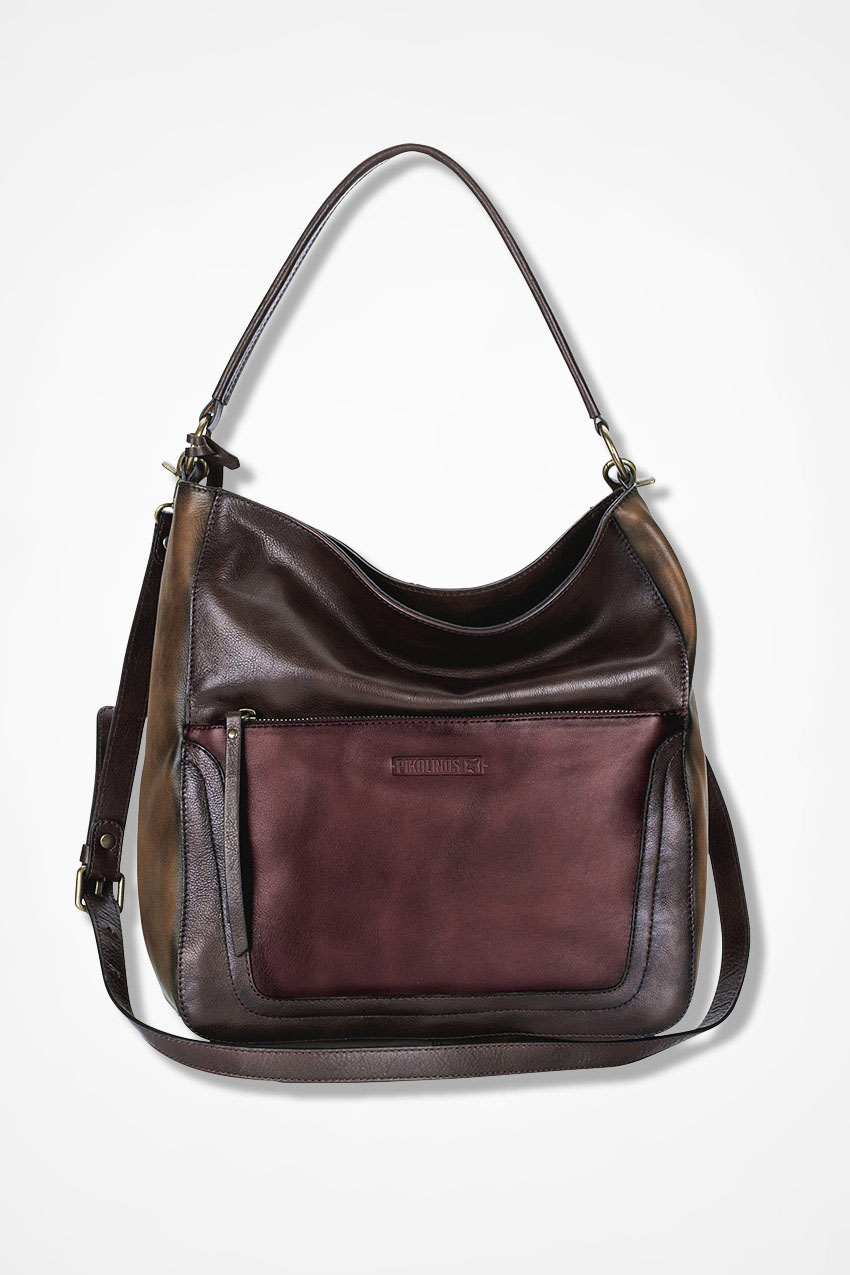 Tri Color Leather Bag By Pikolinos Brown Multi Large