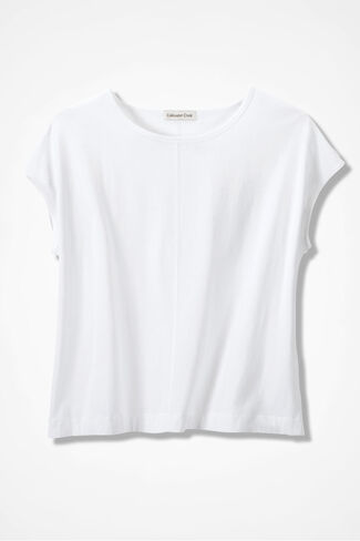 Casual Comfort Tee, White, large img