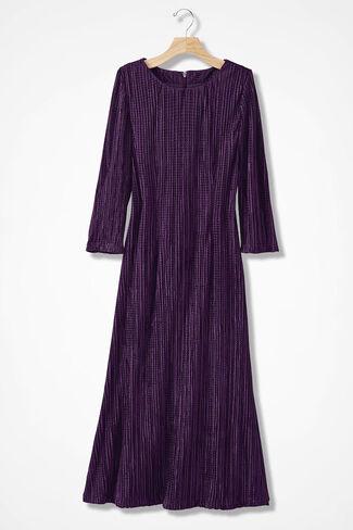 Luminosity Pleated Dress, Midnight Violet, large