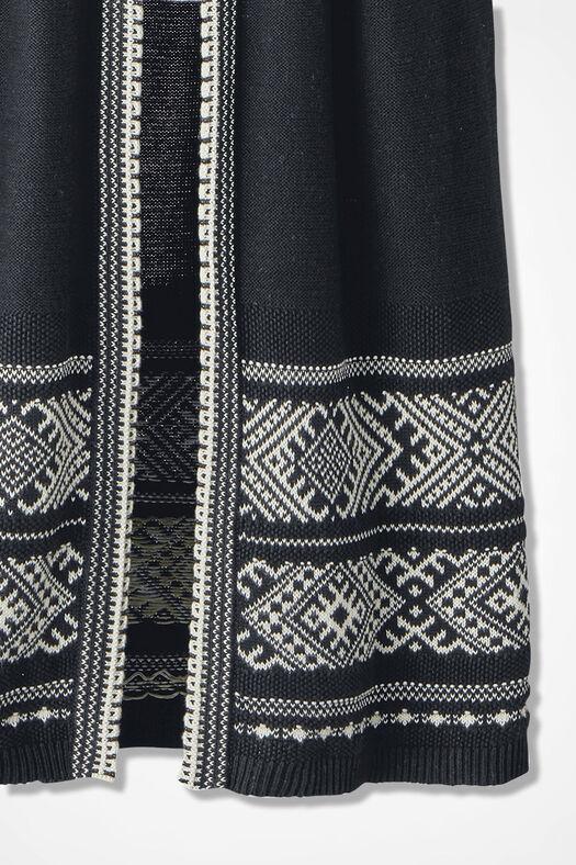 Winter Song Sweater Vest, Black, large