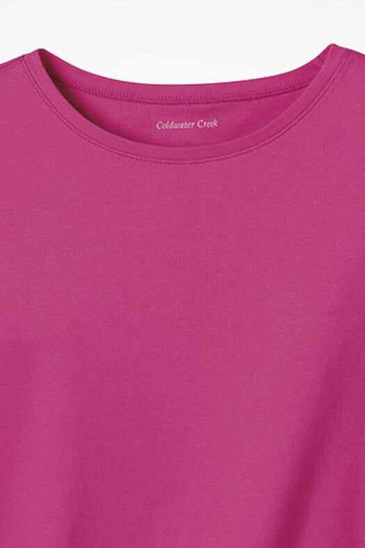 Essential Supima® Crewneck Tee, Bright Pink, large