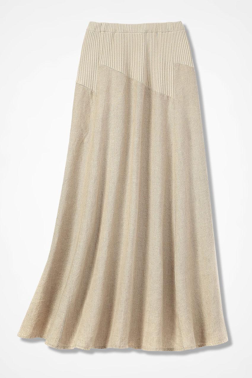 Skirts Robert Louis Black Tan Knit Full Longer Skirt Sz Pxl Clothing, Shoes & Accessories