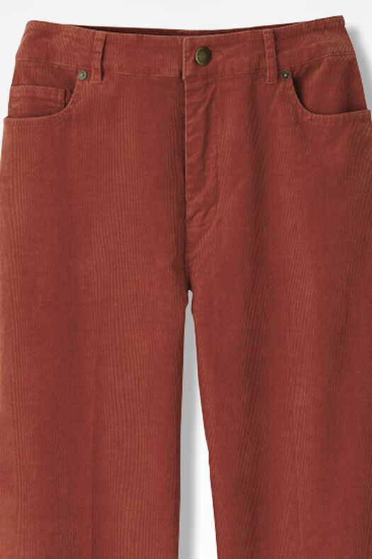 Pinwale Stretch Corduroys, Rust, large