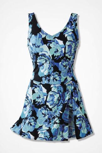 Floral Mood ShapeMe Sarong Swimsuit, Black Multi, large