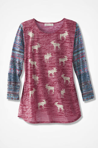 My Moose and Me Tee, Red, large
