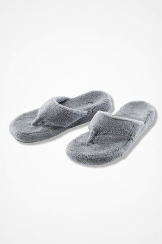 """""""Spa Thong"""" Slippers by Acorn®, Grey, large"""