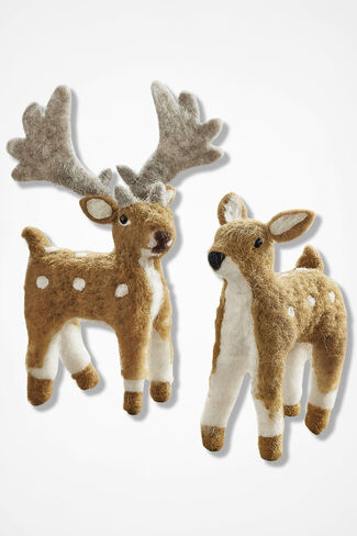 Friendly Felt Deer, Brown, large