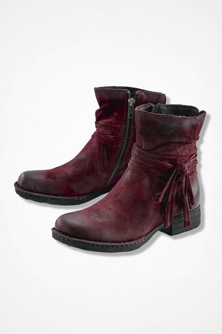 """""""Cross"""" Boots by Born®, Burgundy, large"""