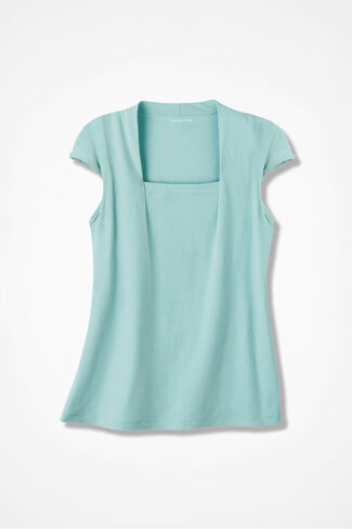 Anytime Square Neck Tank, Clearwater, large