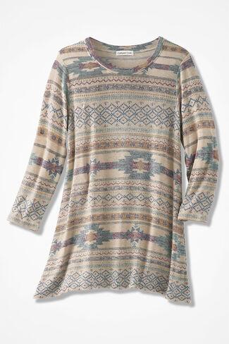 Enchanted Mesa Knit Pullover, Multi, large