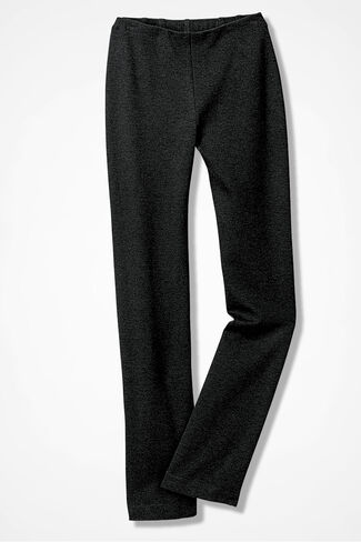 Ponte Perfect® Holly Pants, Charcoal Heather, large