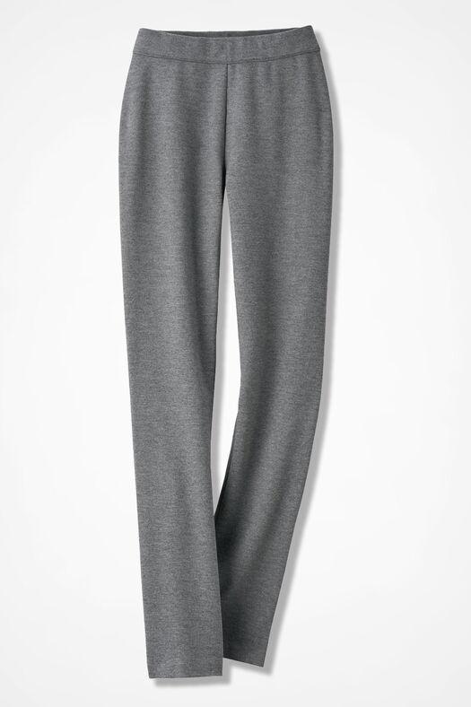 Ponte Perfect® Slim-Leg Leggings, Mid Heather Grey, large