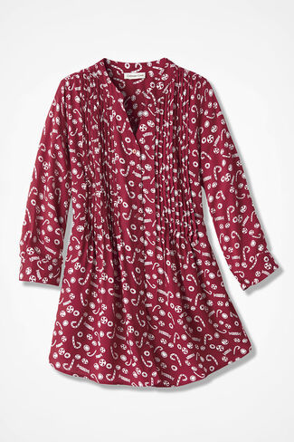Peppermint Twist Tunic, Dover Red, large