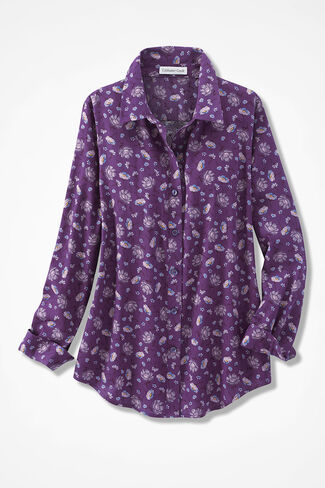 Plumblossom Easy Care Shirt, Plum Multi, large
