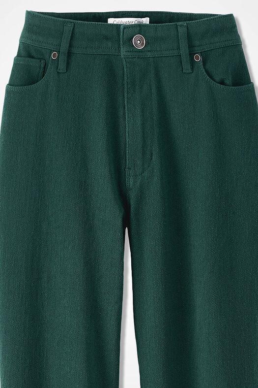 Knit Denim Straight-Leg Jeans, Forest, large