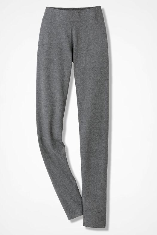 Essential Supima® Leggings, Mid Heather Grey, large