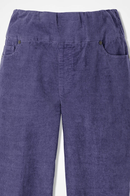 Pinwale Pull-On Stretch Corduroys, Deep Thistle, large