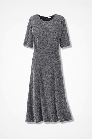 Take Tweed Knit Dress, Black/White, large