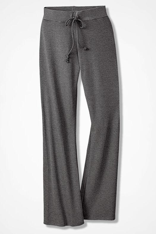 Essential Supima® Pants, Mid Heather Grey, large