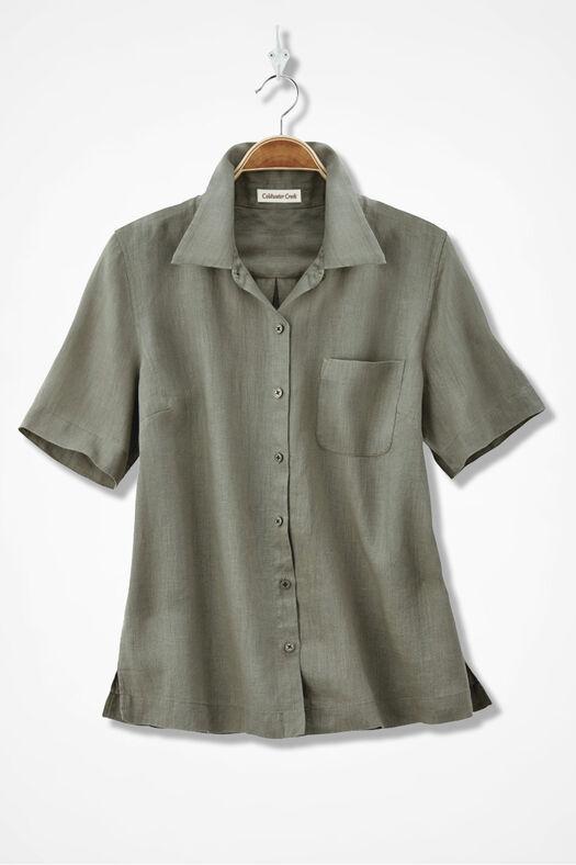 Linen Camp Shirt Coldwater Creek
