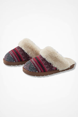 """""""Panorama"""" Slippers by Walk With Me™, Red, large"""