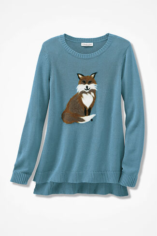 Frieda the Fox Sweater, Lagoon, large