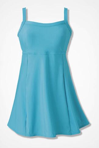 ShapeMe Solid Swimdress, Island Turquoise, large