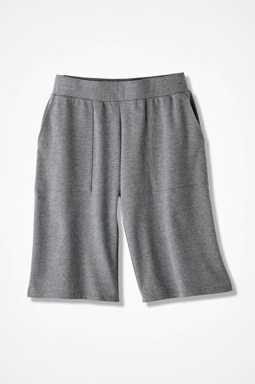 Essential Supima® Shorts, Mid Heather Grey, large