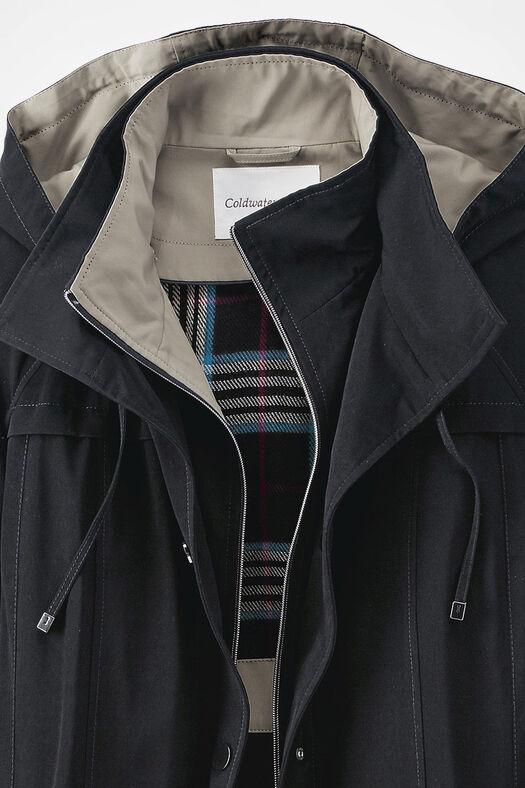 All-Season Long Coat, Black, large