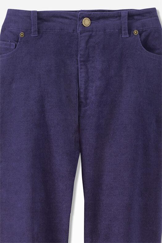 Pinwale Stretch Corduroys, Deep Violet, large