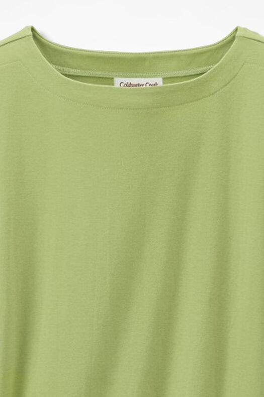 Essential Supima® Boatneck Tee, Willow Green, large