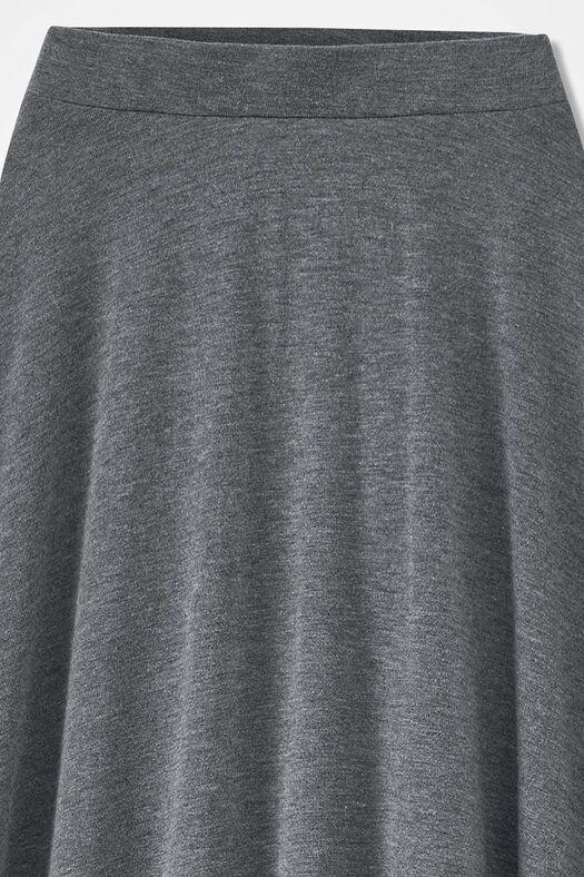 Sweep-n-Swirl Knit Maxi Skirt, Heather Grey, large