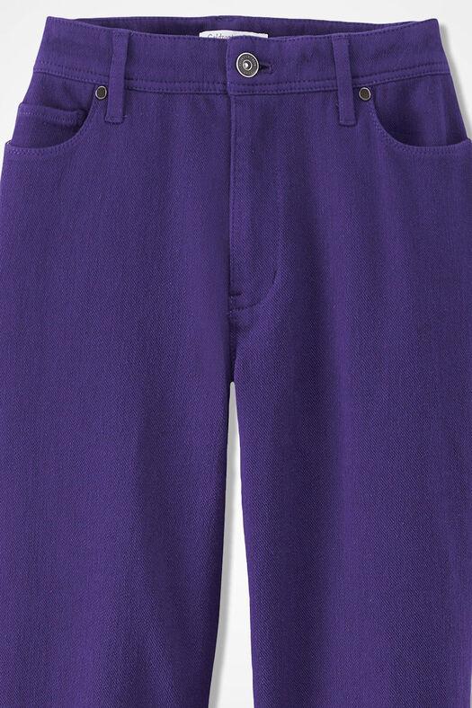 Knit Denim Straight-Leg Jeans, Dark Purple, large