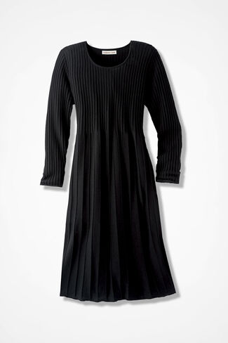 AM/PM Sweater Dress, Black, large