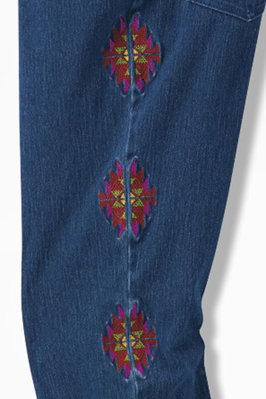 Embroidered knit denim jeans coldwater creek