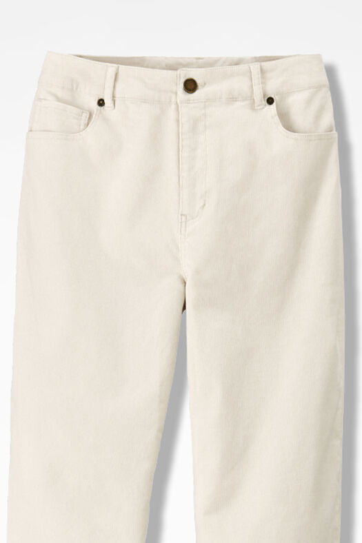 Pinwale Stretch Corduroys, Antique White, large