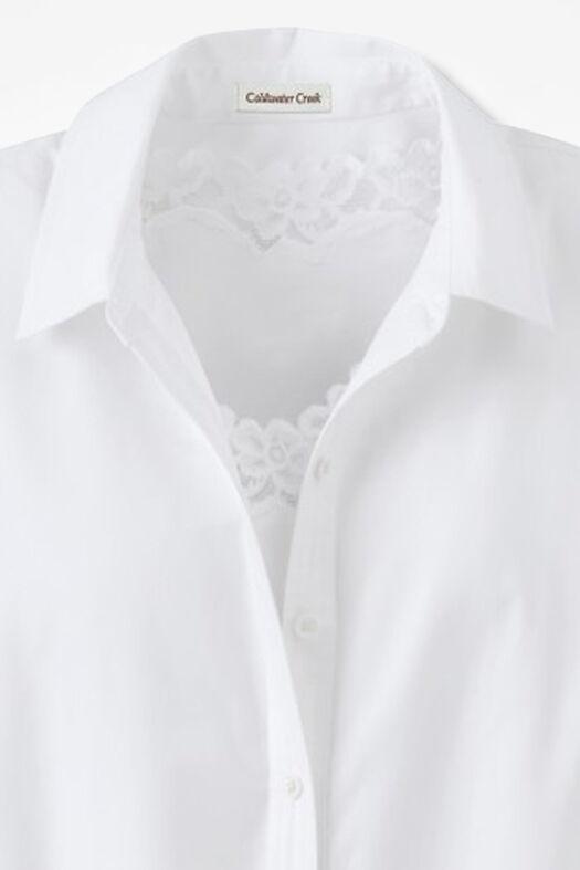 Long-Sleeve Easy Care Shirt, White, large