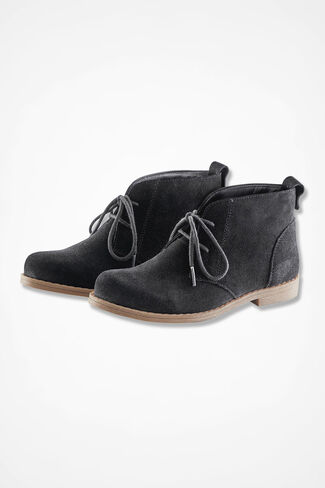 """Journey"" Suede Ankle Boots by Walk With Me™, Black, large"