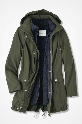 Three-in-One All-Weather Coat, Vine, large