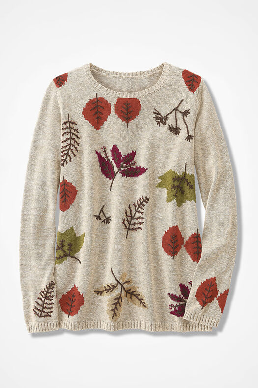Leafing Gracefully Sweater by Coldwater Creek