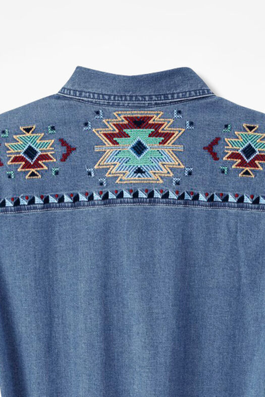 Embroidered denim shirt coldwater creek