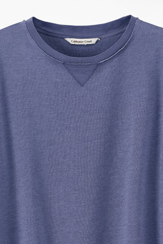 Colorwashed Fleece Pullover, Thistle, large