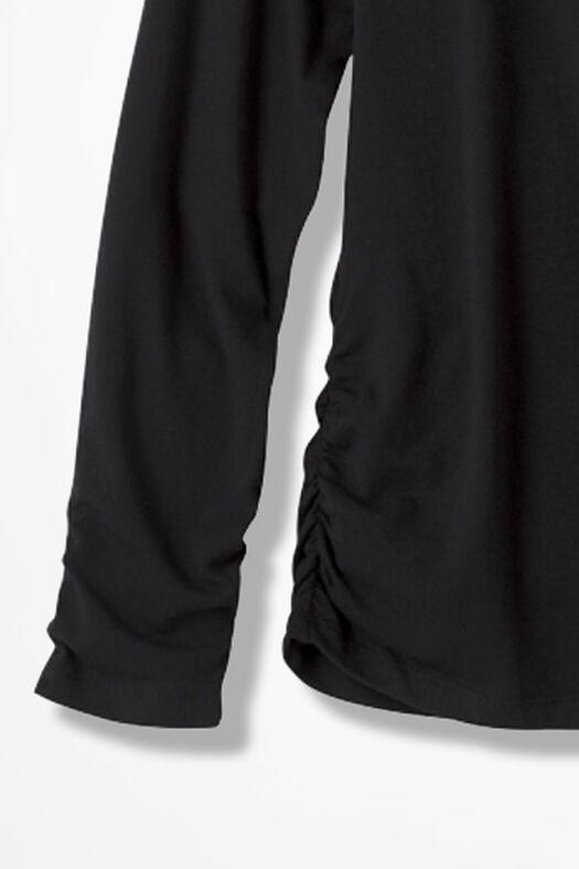 PrimaKnit® Turtleneck, Black, large